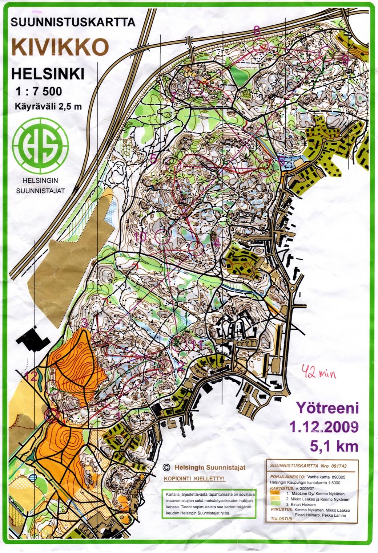 My Digital Orienteering Map Archive Av Yo Kivikko 01 12 2009